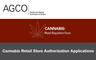 AGCO – Cannabis Retail Store Authorization Applications