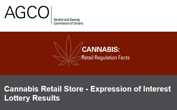 Cannabis Retail Store – Expression of Interest Lottery Results