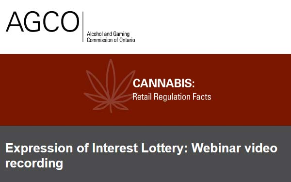 Cannabis Retail Licensing: Expression of Interest and Lottery