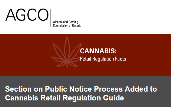 Section on Public Notice Process Added to Cannabis Retail Regulation Guide
